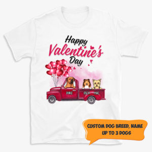 Personalized Happy Valentine Day Custom Dog Shirt