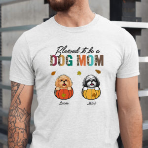 Personalized Bless to be a Dog Mom Custom Dog Halloween Shirt1