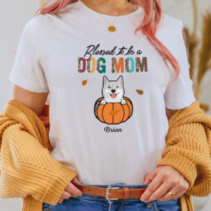 Personalized Bless to be a Dog Mom Custom Dog Halloween Shirt2