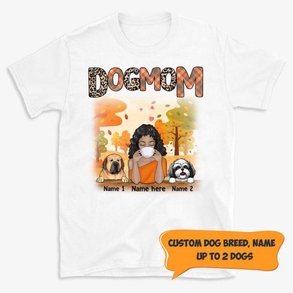 Personalized Dog Mom Fall Halloween Custom Dog Shirt