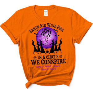Personalized Earth Air Wind Fire In A Circle We Consprire Custom Halloween Shirt3
