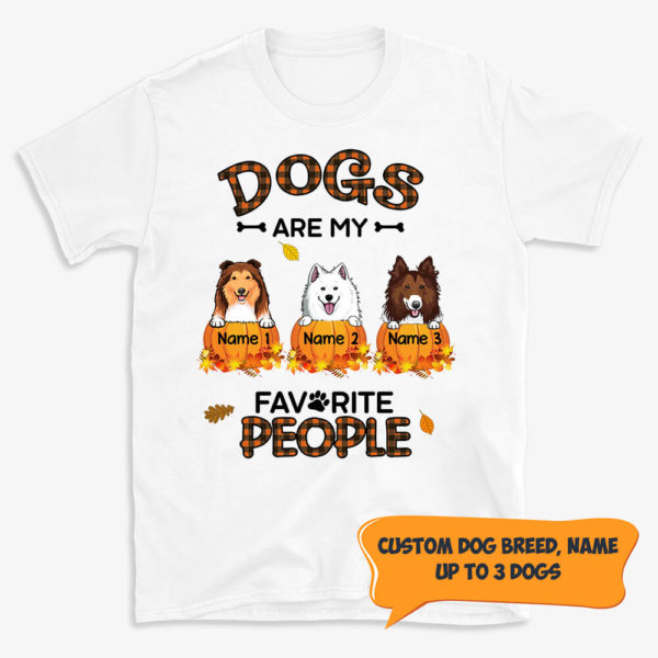 Personalized Fall Halloween Dogs Are My Favorite People Custom Dog Shirt 1