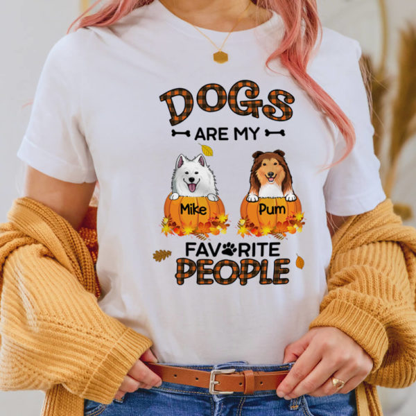 Personalized Fall Halloween Dogs Are My Favorite People Custom Dog Shirt2