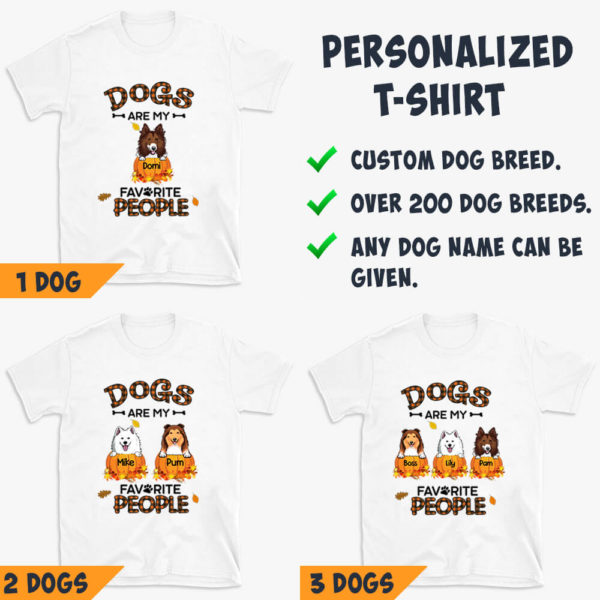 Personalized Fall Halloween Dogs Are My Favorite People Custom Dog Shirt3
