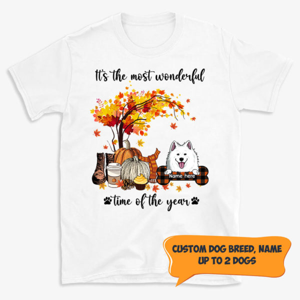 Personalized Fall Halloween Its The Most Wonderful Time Of The Year Custom Dog Shirt 1
