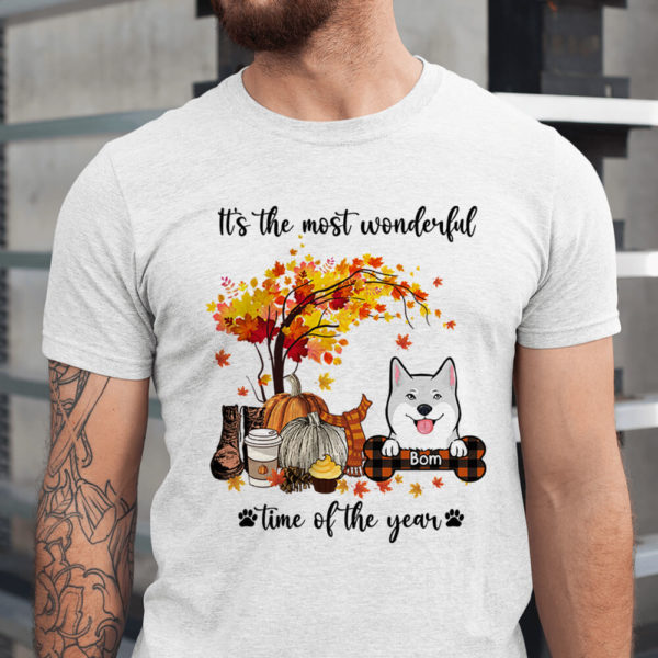 Personalized Fall Halloween Its The Most Wonderful Time Of The Year Custom Dog Shirt1