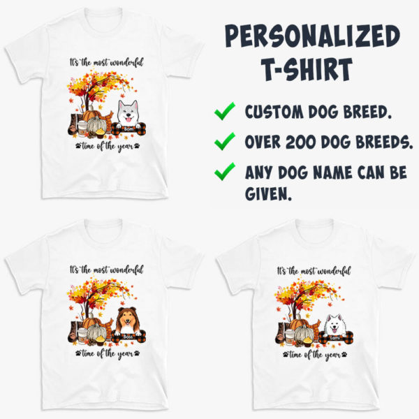 Personalized Fall Halloween Its The Most Wonderful Time Of The Year Custom Dog Shirt3