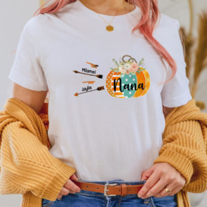Personalized Fall Halloween Mom Grandma Custom Kid Name Shirt2