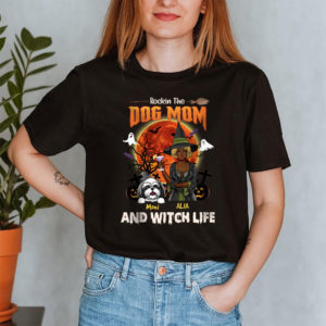 Personalized Fall Halloween Rockin The Dog Mom And Witch Life Custom Dog Shirt2