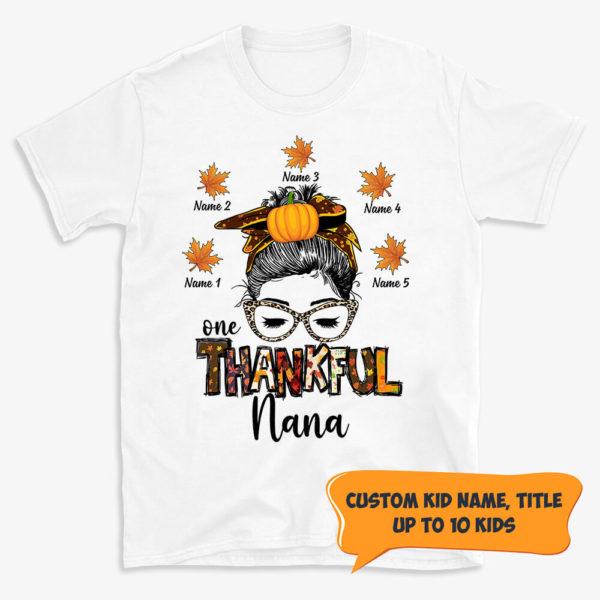 Personalized Fall Halloween Thankful Grandma Custom Shirt