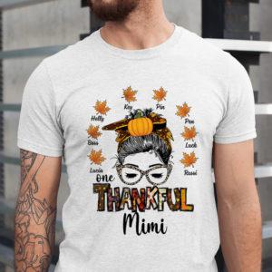 Personalized Fall Halloween Thankful Grandma Custom Shirt1