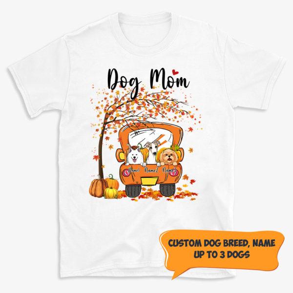 Personalized Fall Season Dog Mom Truck Halloween Custom Dog Shirt 1