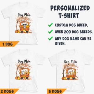 Personalized Fall Season Dog Mom Truck Halloween Custom Dog Shirt3