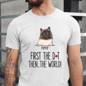 Personalized First The Dot Then The World Custom Cat Shirt1