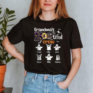Personalized Grandma's Bootiful Crew Halloween Custom Shirt2