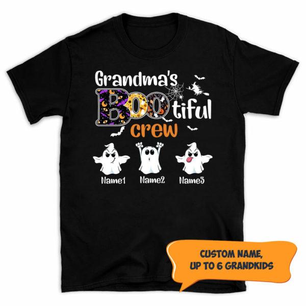 Personalized Grandma's Bootiful Crew Halloween Custom Shirt3