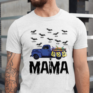 Personalized Grandma Car Halloween Grandkids Name Custom Shirt1