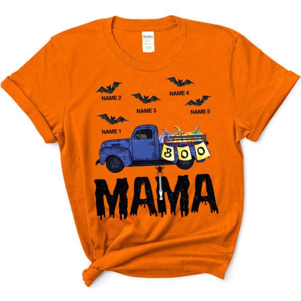 Personalized Grandma Car Halloween Grandkids Name Custom Shirt3