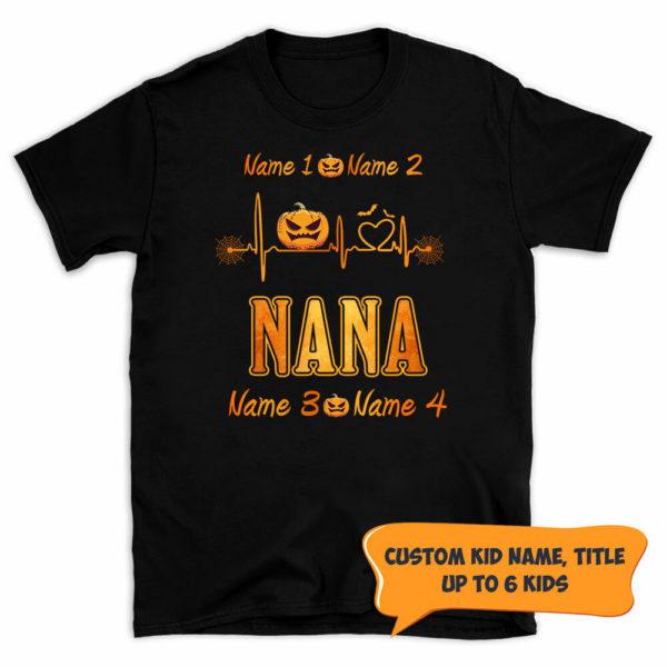 Personalized Grandma Live Love Spoil Halloween Custom Shirt