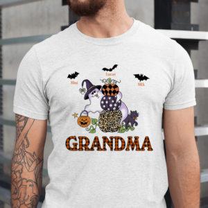 Personalized Grandma Pumpkin Bat Boo Halloween Custom Shirt1