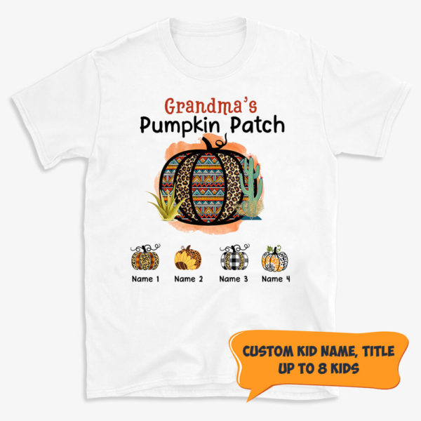 Personalized Grandma s Pumpkin Patch Halloween Custom Shirt