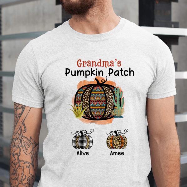 Personalized Grandma s Pumpkin Patch Halloween Custom Shirt1
