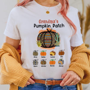 Personalized Grandma s Pumpkin Patch Halloween Custom Shirt2