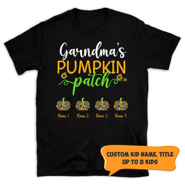 Personalized Grandmas Pumpkin Patch Fall Halloween Custom Shirt