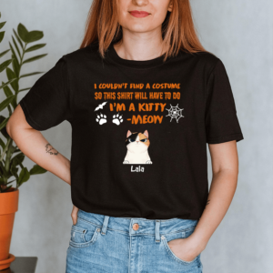 Personalized Halloween Couldn't Find A Costume I'm A Kitty Custom Cat Lady Shirt