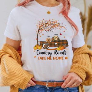 Personalized Halloween Fall Country Roads Take Me Home Custom Dog Shirt2