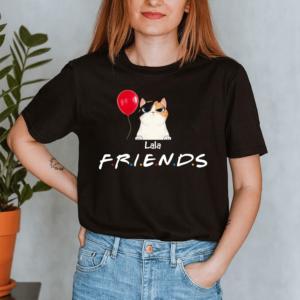 Personalized Halloween Friends Balloon Custom Cat Lady Shirt