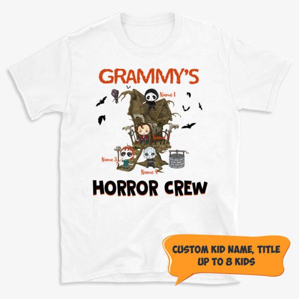 Personalized Halloween Grandmas Horror Crew Custom Halloween Shirt