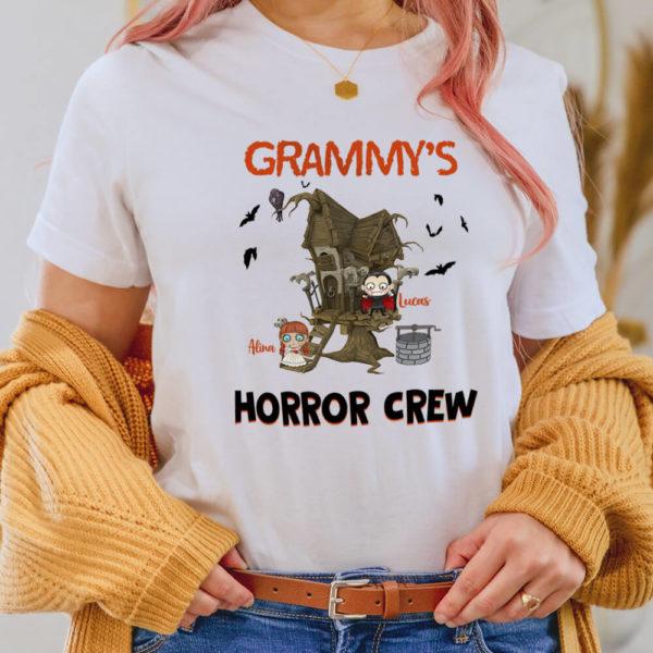 Personalized Halloween Grandmas Horror Crew Custom Halloween Shirt2