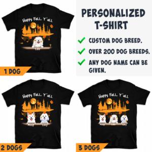 Personalized Halloween Happy Fall Y'all Custom Dog