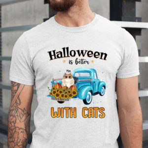 Personalized Halloween Is Better With Cats Custom Cat Halloween Shirt1