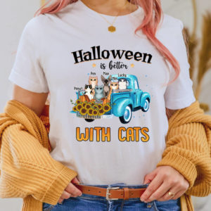 Personalized Halloween Is Better With Cats Custom Cat Halloween Shirt2