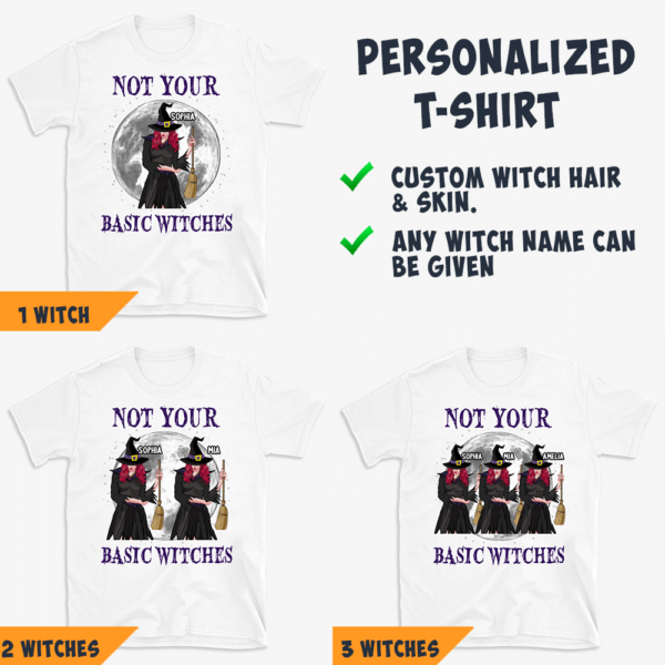 Personalized Halloween Not Your Basic Witch Custom Witch