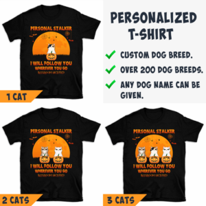 Personalized Halloween Personal Stalker Follow You Bathroom Included Custom Cat