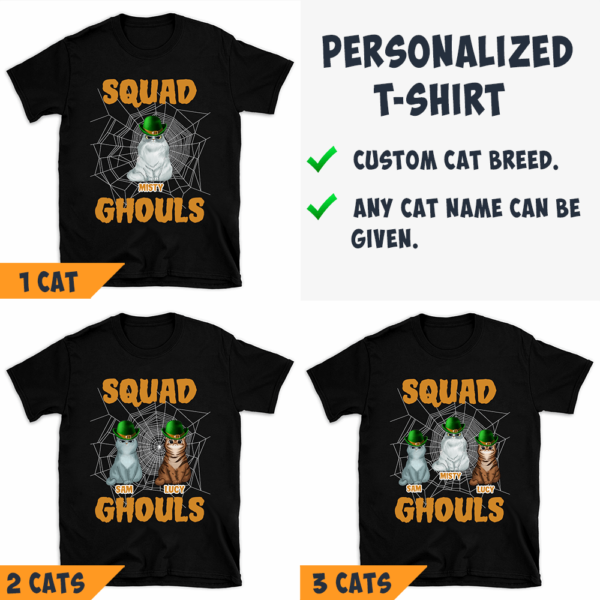 Personalized Halloween Squad Ghouls Custom Cat