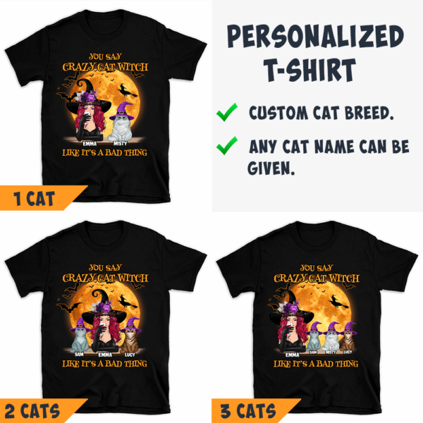 Personalized Halloween You Say Crazy Cat Witch Like It's A Bad Thing Custom Witch