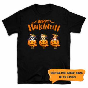 Personalized Happy Halloween Pumkin Custom Dog Shirt