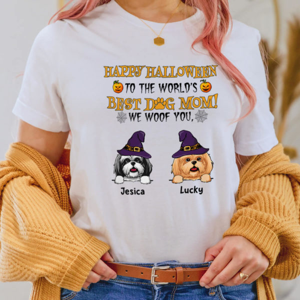 Personalized Happy Halloween To The Worlds Best Dog Mom Custom Dog Shirt2
