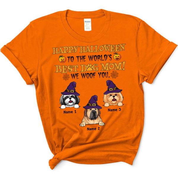 Personalized Happy Halloween To The Worlds Best Dog Mom Custom Dog Shirt3