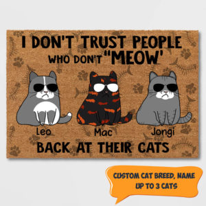 Personalized I Don't Trust People Who Don't Meow Back At Their Cat Custom Cat Shirt