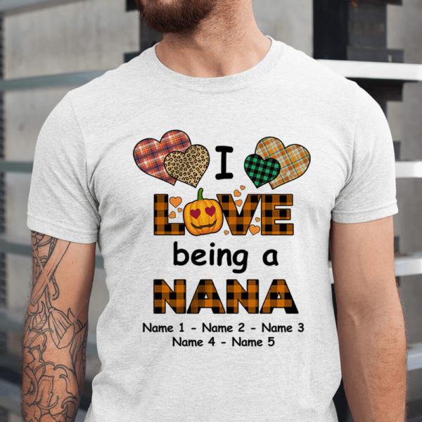 Personalized I Love Being A Grandma Custom Name Shirt1
