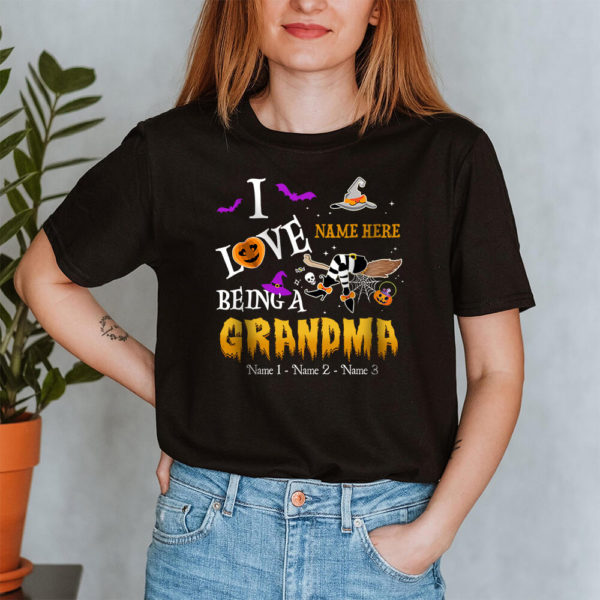 Personalized I Love Being A Grandma Witch Pumpkin Halloween Custom Shirt2