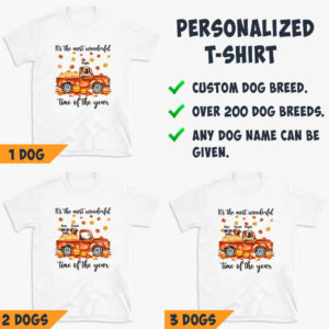 Personalized It's The Most Wonderful Time Of The Year Pumpkin Car Custom Dog Halloween Shirt