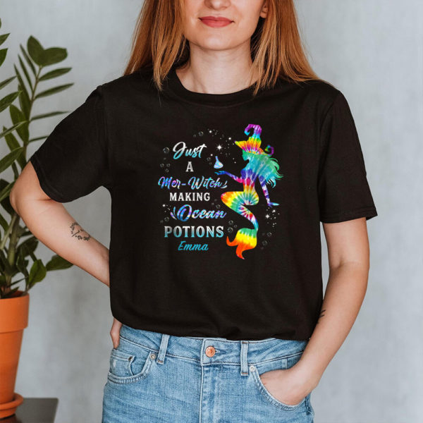 Personalized Just A Mer Witch Making Ocean Potions Custom Halloween Shirt2