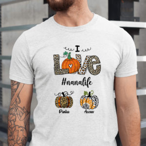 Personalized Love Grandma Life Custom Pumpkin Halloween Shirt1