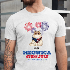 Personalized Meowica Happy 4th Of July Custom Cat Shirt1